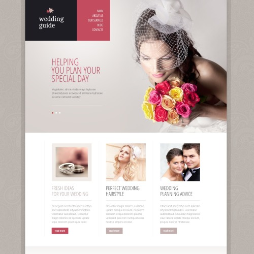 Wedding Guide - Responsive Drupal Template
