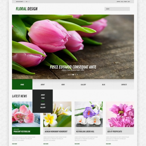 Floral Design - WordPress Template based on Bootstrap