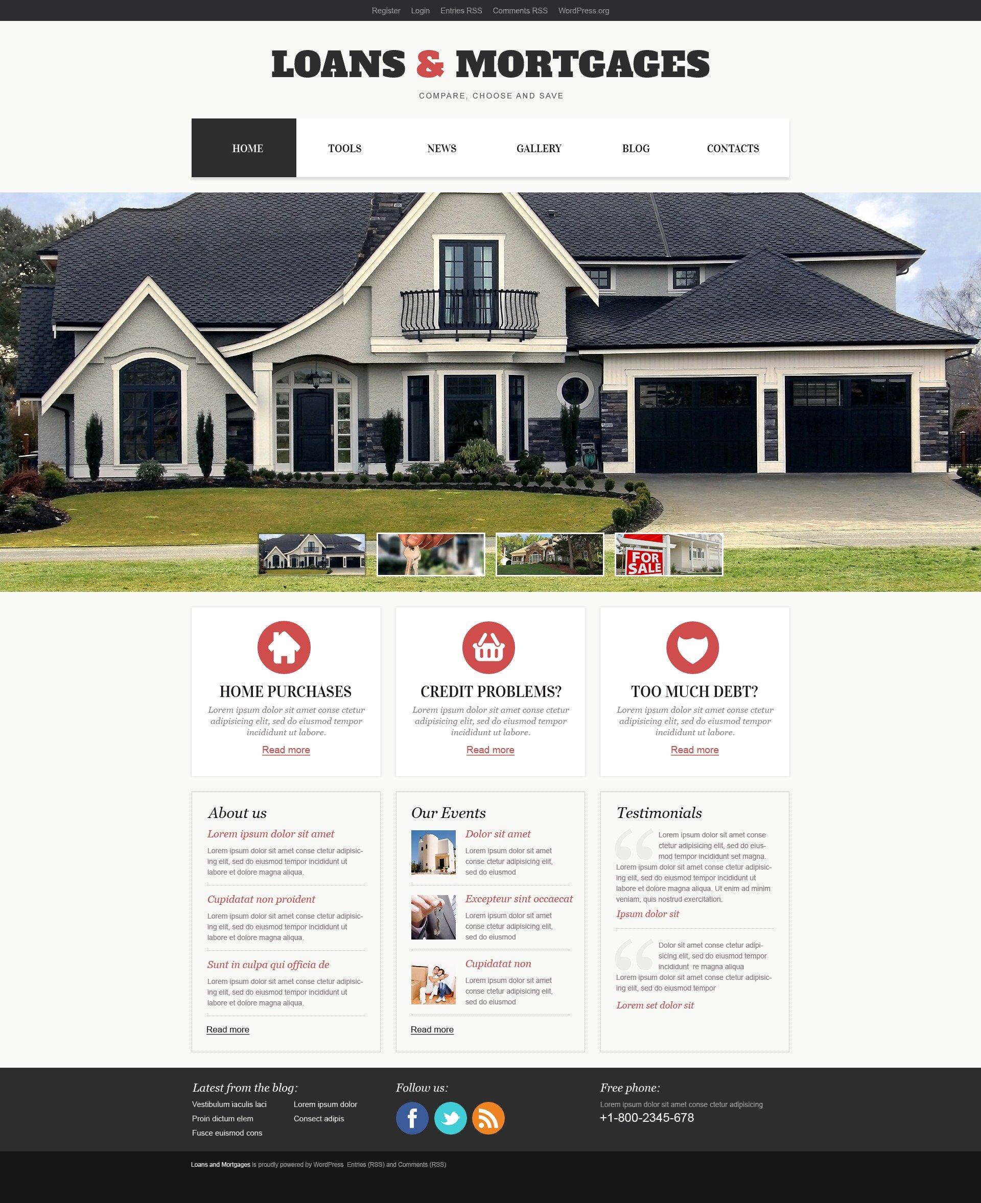 """Light Mortgage"" thème WordPress adaptatif #44517"