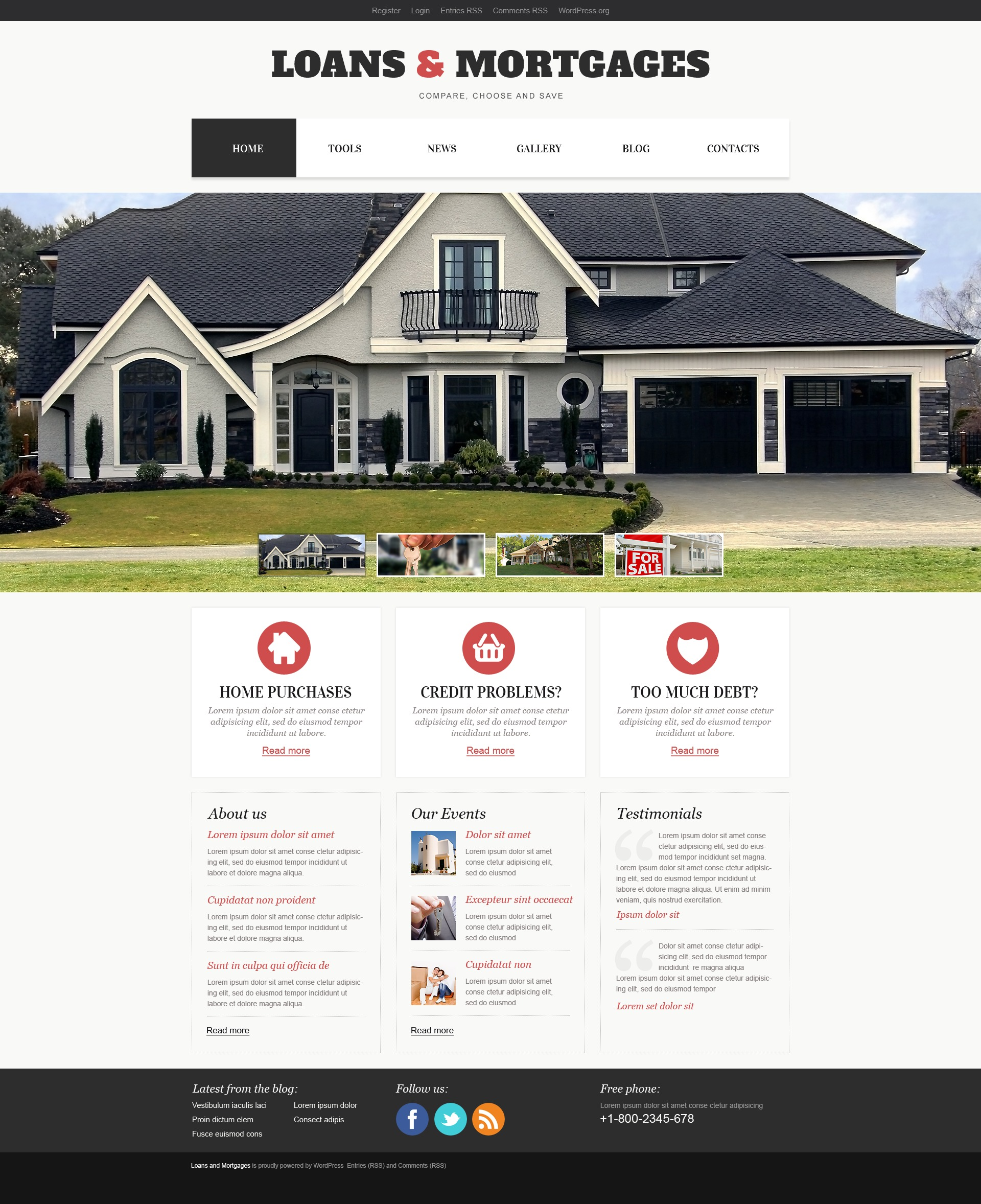 Light Mortgage WordPress Theme - screenshot