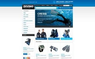 Online Diving Store VirtueMart Template