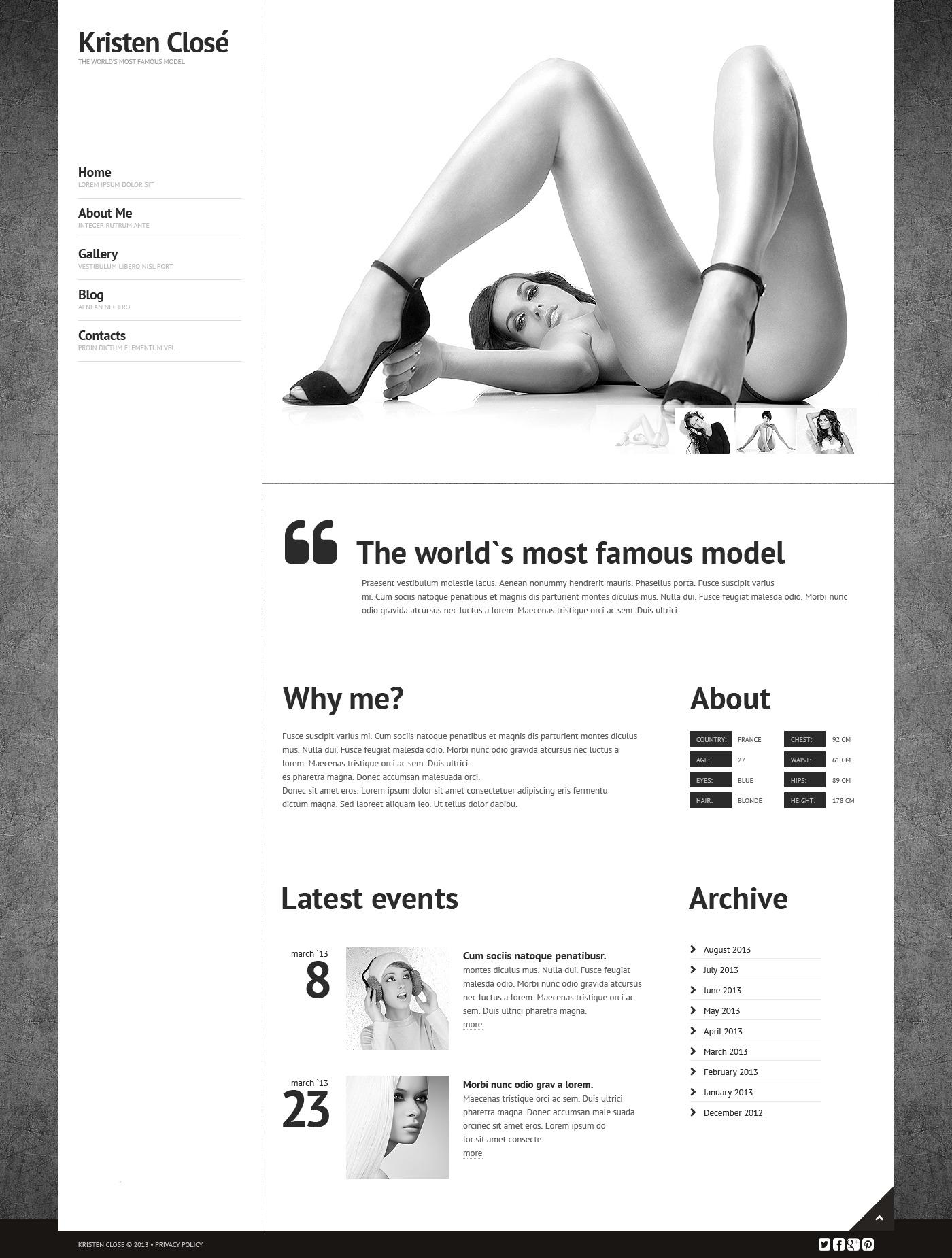 Responzivní Šablona webových stránek na téma Modelingová agentura #44544