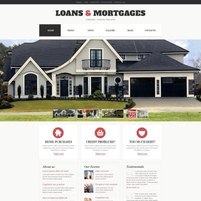 Responsive Tema De WordPress #44517 para Sitio de  para Sitio de Hipoteca