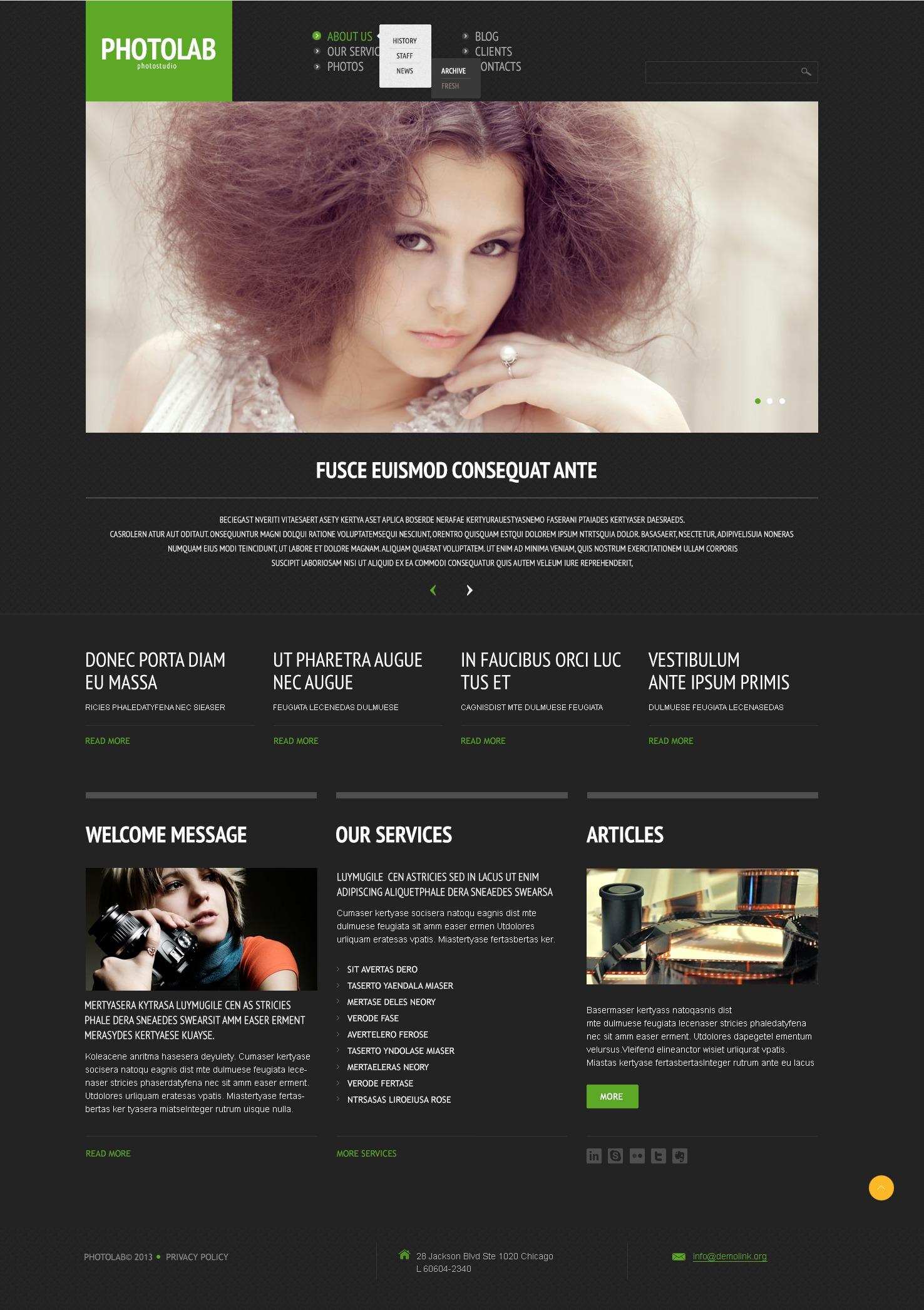 Tema WordPress Flexível para Sites de Laboratório Fotográfico №44510
