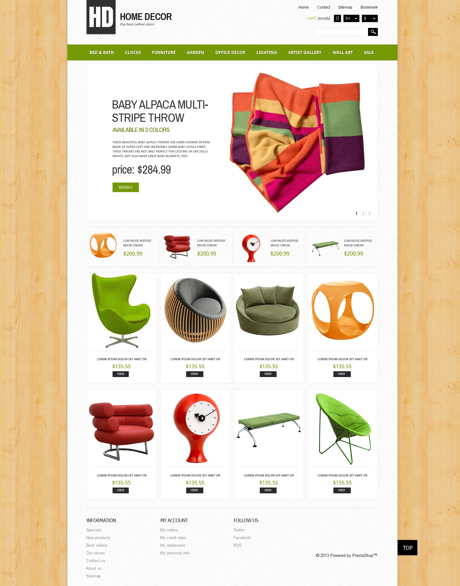Tema prestashop 44551 per un sito di design di interni for Home decor shopping websites