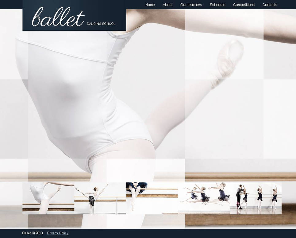 Ballet Dance School Website Template - image