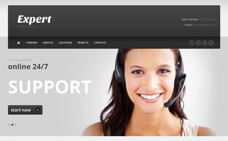 Moto CMS HTML Vorlage für Callcenter  New Screenshots BIG