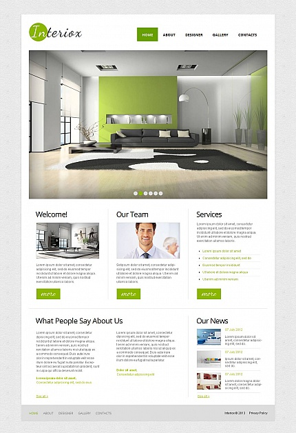 ADOBE Photoshop Template 44612 Home Page Screenshot