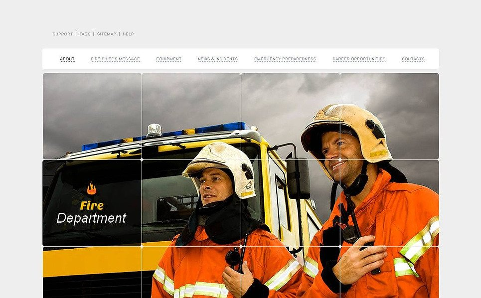 Premium Moto CMS HTML Template over Brandweer  New Screenshots BIG