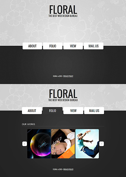 ADOBE Photoshop Template 44621 Home Page Screenshot