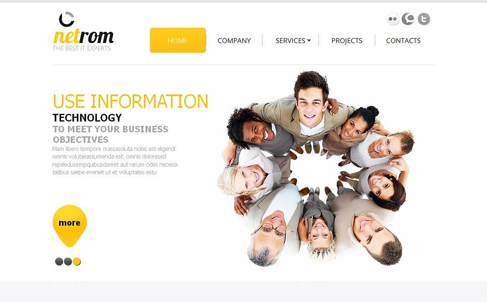 Szablon Moto CMS HTML #44625 na temat: IT New Screenshots BIG
