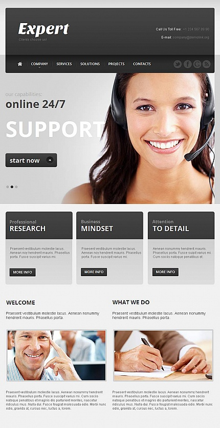 ADOBE Photoshop Template 44628 Home Page Screenshot
