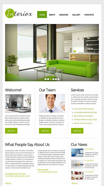 ADOBE Photoshop Template 44630 Home Page Screenshot