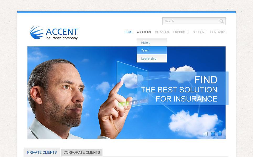 Facebook HTML CMS шаблон на тему страхування New Screenshots BIG