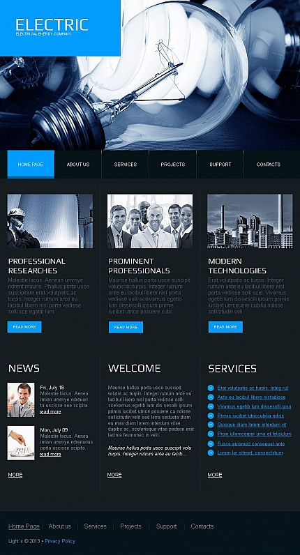ADOBE Photoshop Template 44644 Home Page Screenshot