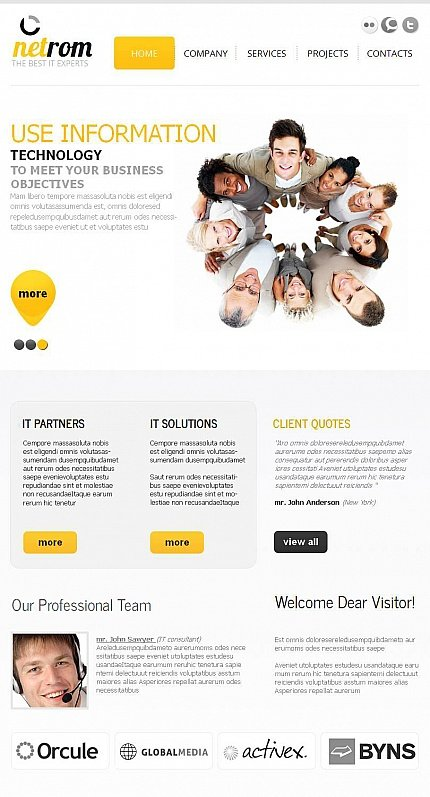 ADOBE Photoshop Template 44645 Home Page Screenshot
