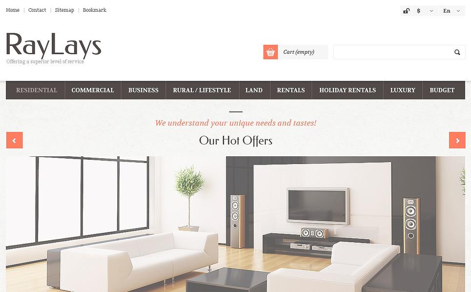 Responsives PrestaShop Theme für Immobilien  New Screenshots BIG