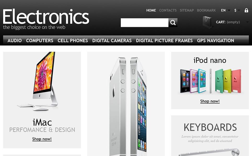 Responsywny szablon PrestaShop #44654 na temat: sklep elektroniczny New Screenshots BIG