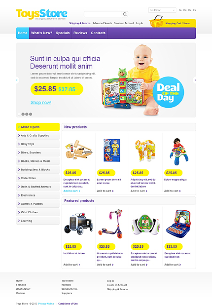 osCommerce Template 44656 Main Page Screenshot