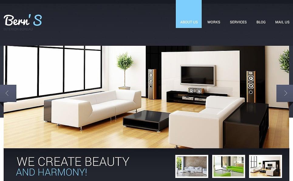 Responsive İç Dizayn  Web Sitesi Şablonu New Screenshots BIG