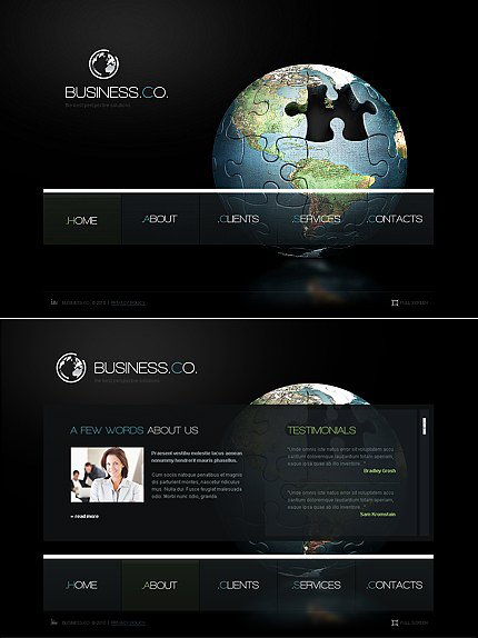 ADOBE Photoshop Template 44671 Home Page Screenshot