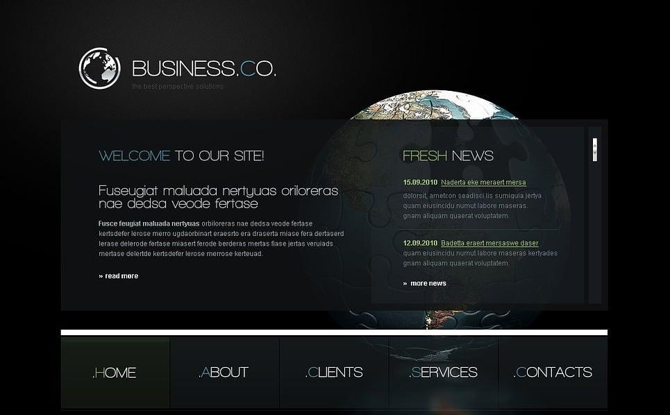 Prémium Befektetési társaságok Flash CMS sablon New Screenshots BIG
