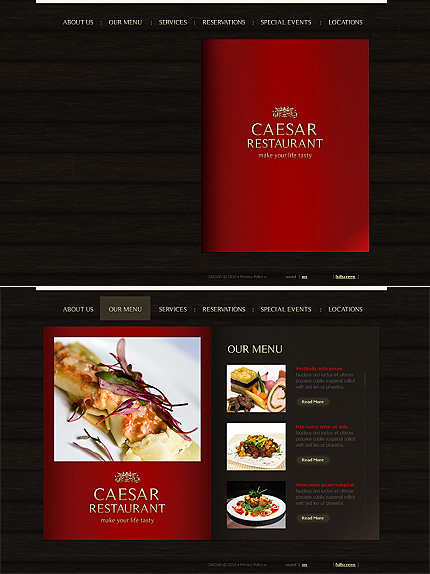 ADOBE Photoshop Template 44673 Home Page Screenshot