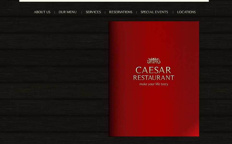 Modèle Flash CMS  pour site de café et restaurant New Screenshots BIG