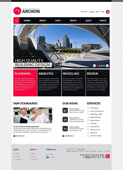 ADOBE Photoshop Template 44675 Home Page Screenshot