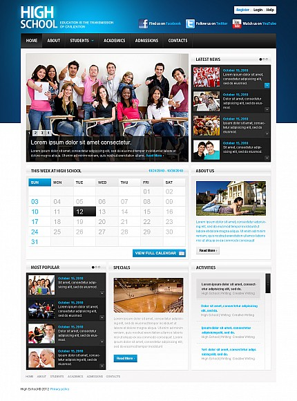 ADOBE Photoshop Template 44679 Home Page Screenshot