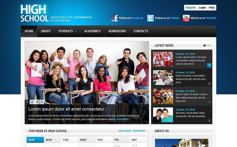 Modèle Flash CMS  pour site d'éducation New Screenshots BIG