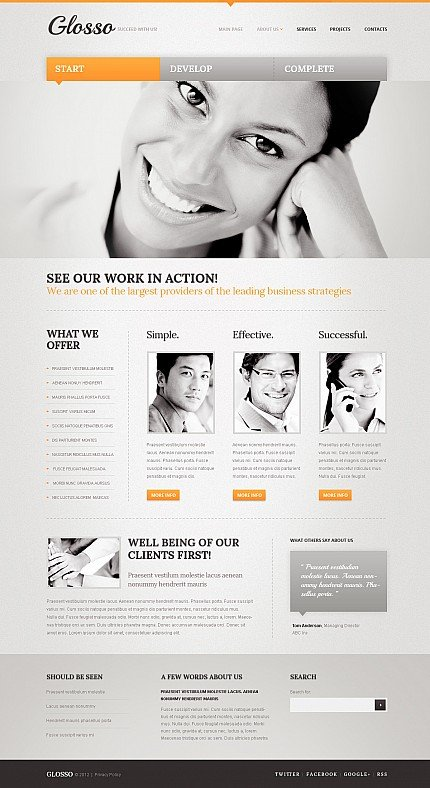 ADOBE Photoshop Template 44683 Home Page Screenshot