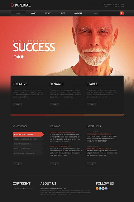 ADOBE Photoshop Template 44684 Home Page Screenshot