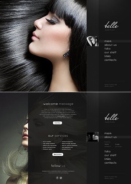 ADOBE Photoshop Template 44686 Home Page Screenshot