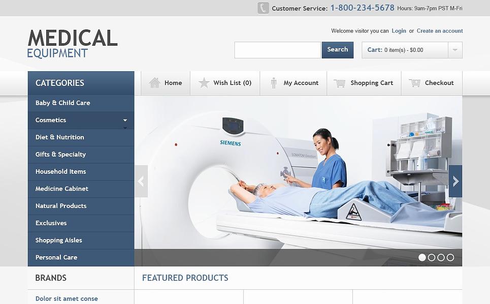 OpenCart šablona Lékařské vybavení New Screenshots BIG