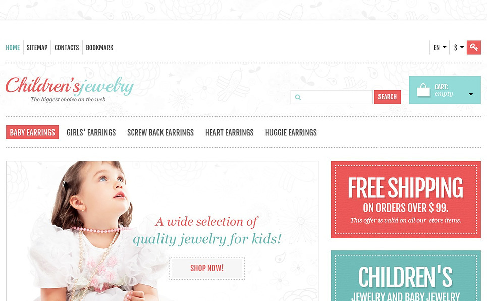 "PrestaShop Theme namens ""Responsiver Online-Shop für Kinderschmuck"" New Screenshots BIG"