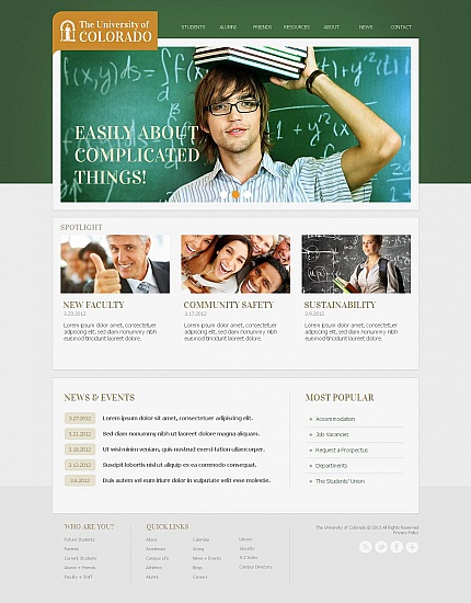 ADOBE Photoshop Template 44699 Home Page Screenshot