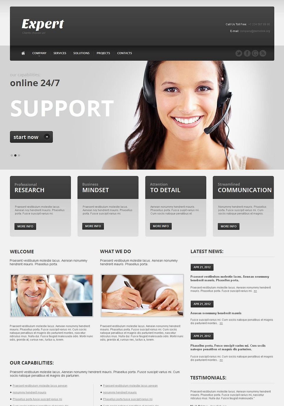 Call Center Moto CMS HTML Template New Screenshots BIG