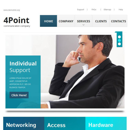 4 Point - Facebook HTML CMS Template