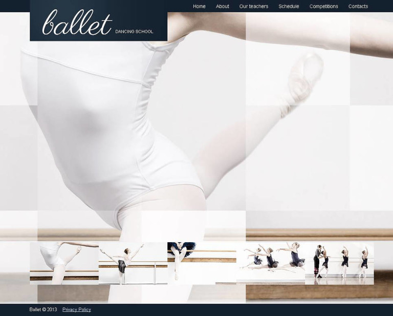 Dance Studio Moto CMS HTML Template New Screenshots BIG
