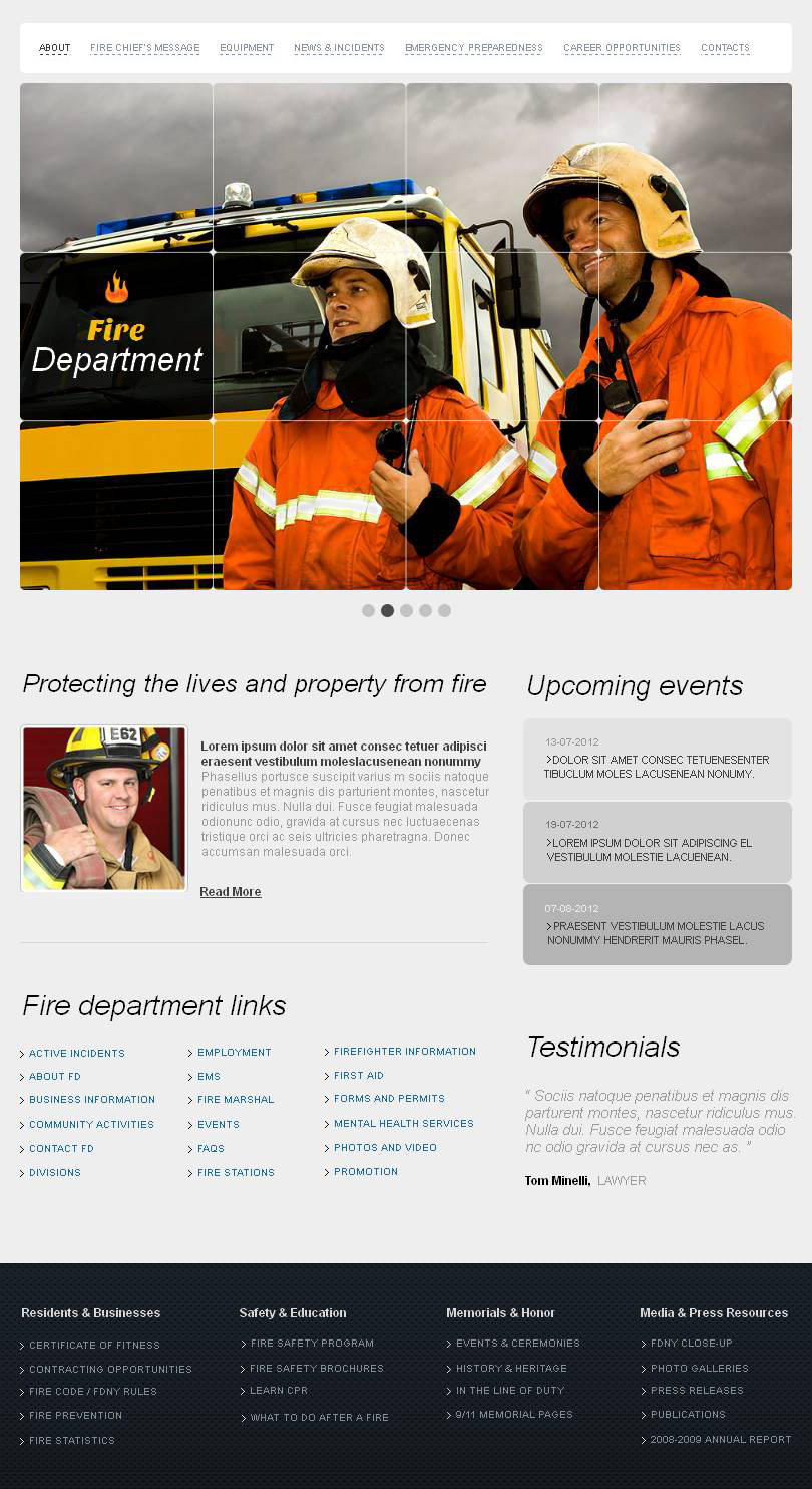 fire department certificate templates