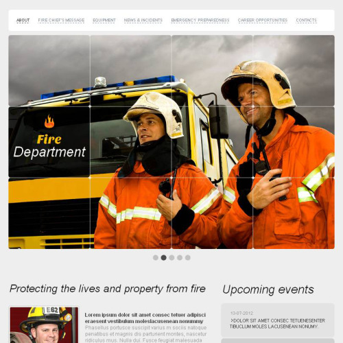 Fire Department - Facebook HTML CMS Template