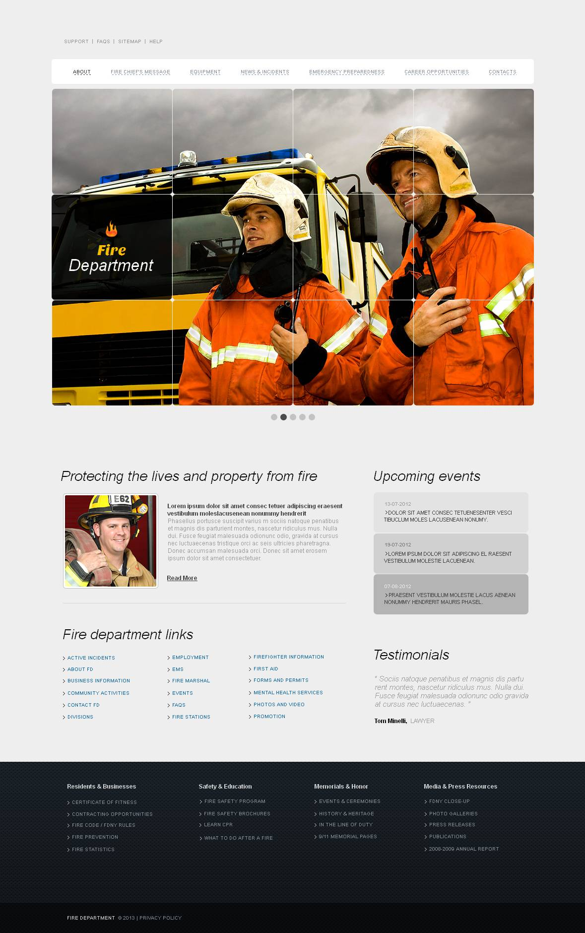 Fire Department Moto CMS HTML Template