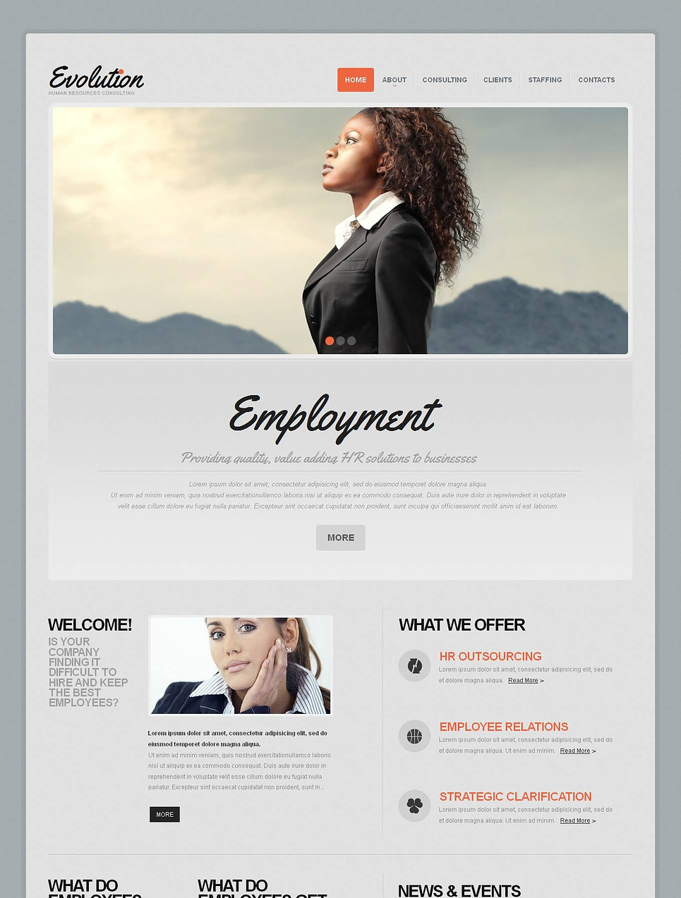 Job Portal Moto CMS HTML Template New Screenshots BIG