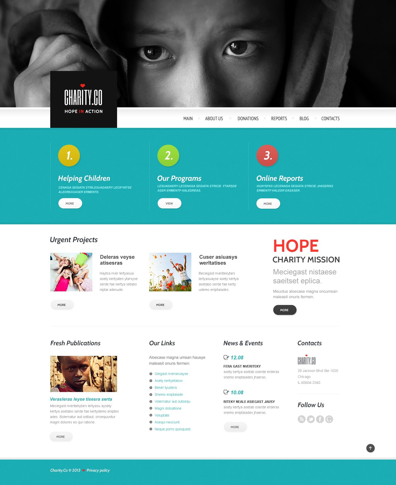 Metaphor Charity Wordpress Theme 44667