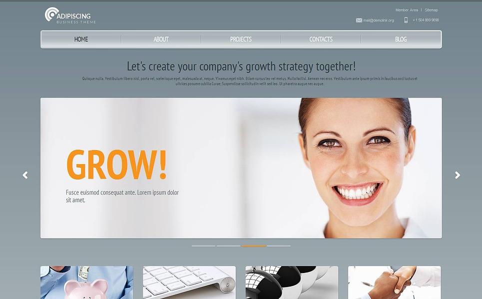 Modèle Moto CMS HTML  pour société de gestion New Screenshots BIG