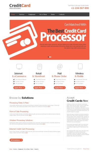 Moto CMS HTML Vorlage für Bank