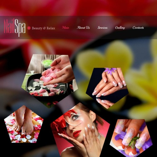 Nail Spa - Facebook HTML CMS Template
