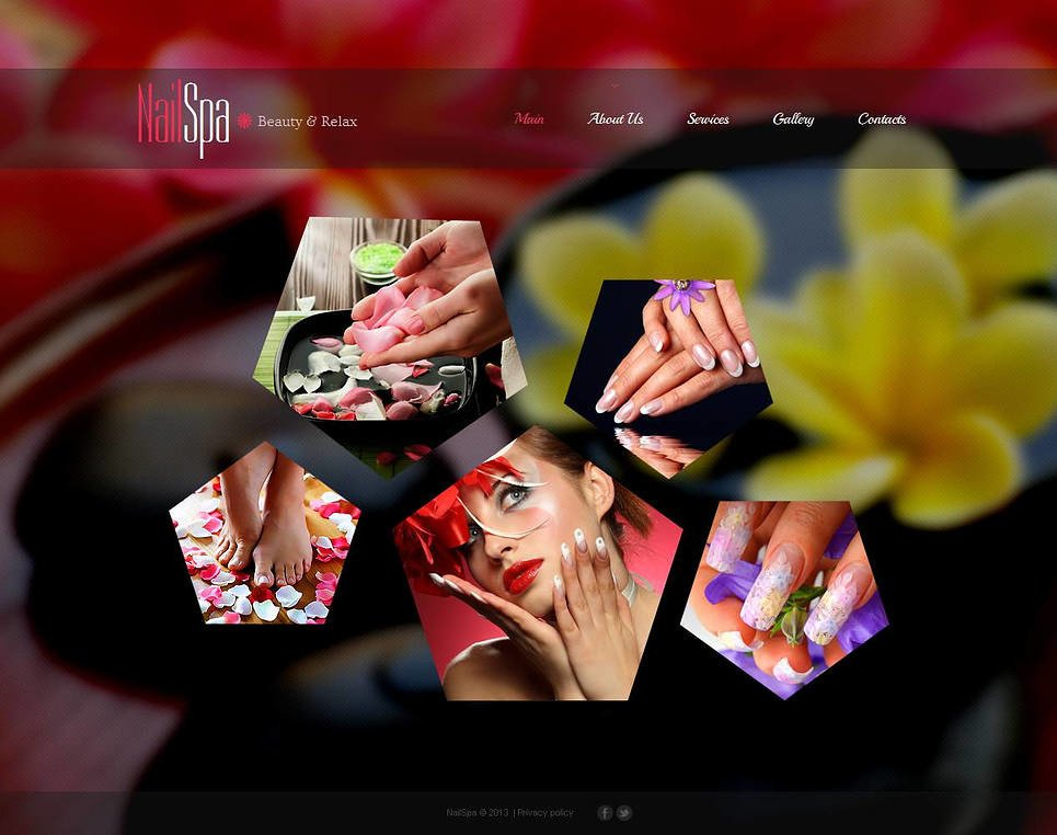 Nail Salon Moto CMS HTML Template New Screenshots BIG