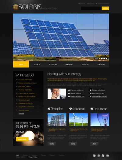Plantilla Flash CMS #44672 para Sitio de  para Sitio de Energía solar
